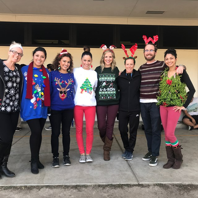 These lovely educators are ready to celebrate the holidays.