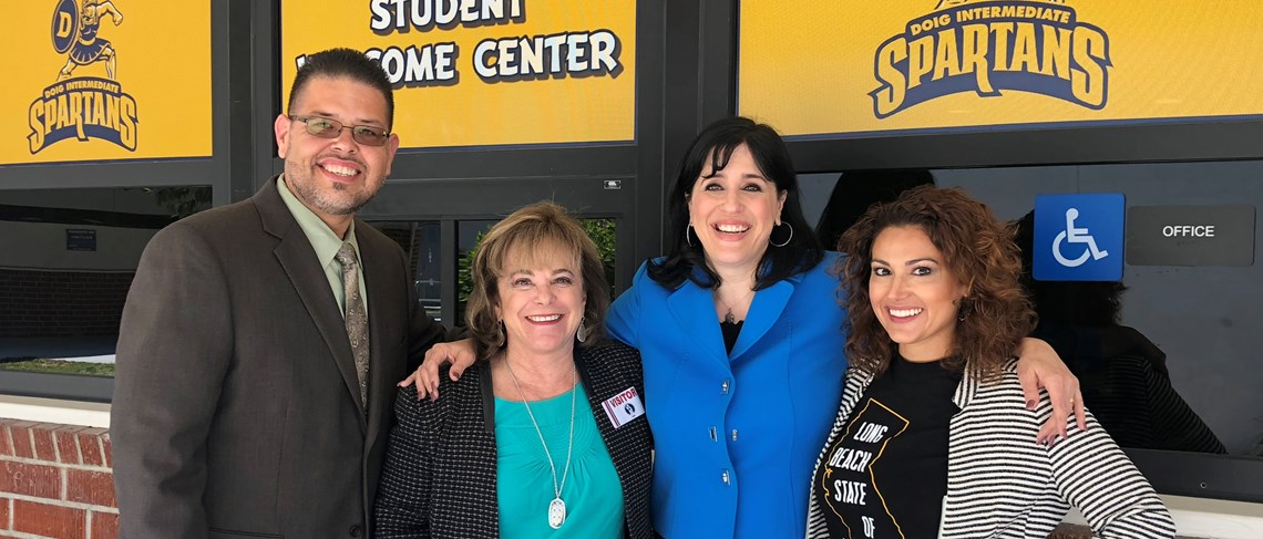 Ilene Straus, Board Member for the State of California Board of Education, visits Doig, an AVID National Demonstration school.